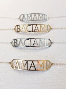 Baciami [Kiss Me] & Amami [Love Me] Bracelets- CAIA Jewlery {$125}